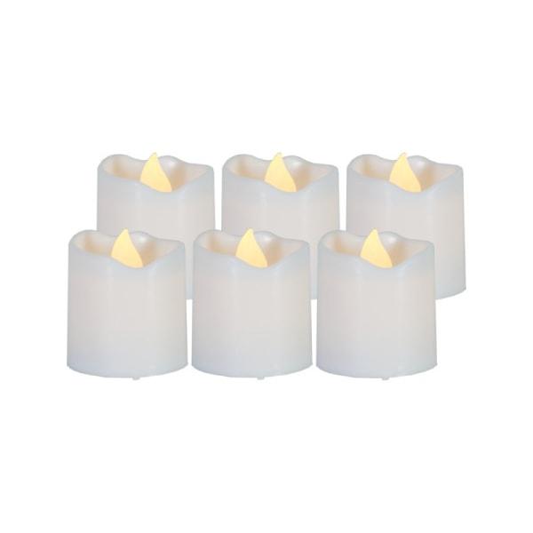 6 söta Votiv LED-VÄRMELJUS, flimrande låga, PACKY