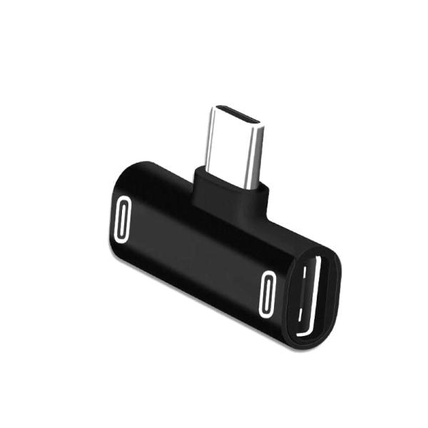 Adapter USB-C till 2x USB-C. Ladda 2 telefoner samtidigt