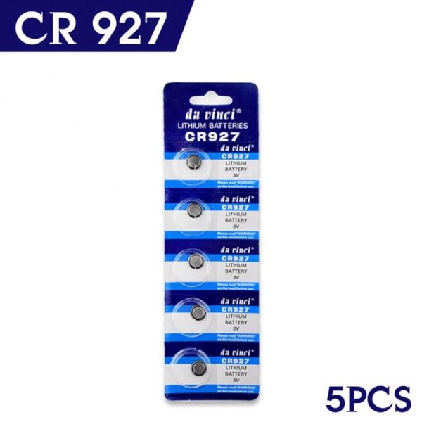 Batteri CR927, 927, 3 volt, 5-pack