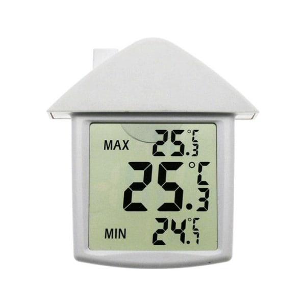 Digital Fönstertermometer med stora lättlästa siffror och min
