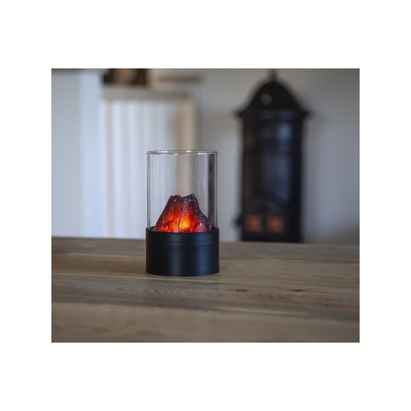 LED-Ljus-Lykta Fireplace med Timer