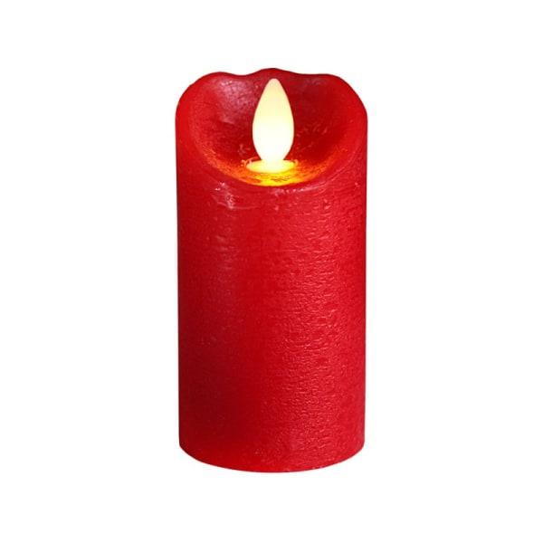 Rött Julljus Juleljus 10.5cm LED Blockljus GLOW med TIMER