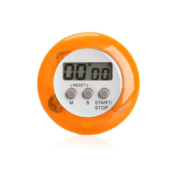 Snygg, Tuff, rund, trendig kökstimer stoppur magnet Orange