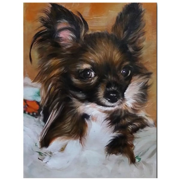 Full 5D DIY Diamond Painting Cross Stitch Pet Dog Broderi Mosaic Som på bilden 1