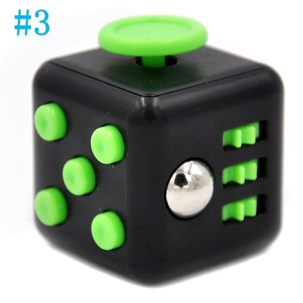 Stress Relief Cube, Fidget toy 6-sidig kub Vuxen ångest