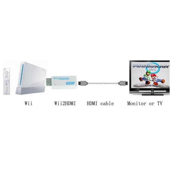 Wii to HD hdmi adapter Nintendo Wii HD omvandlare 3,5mm ljud
