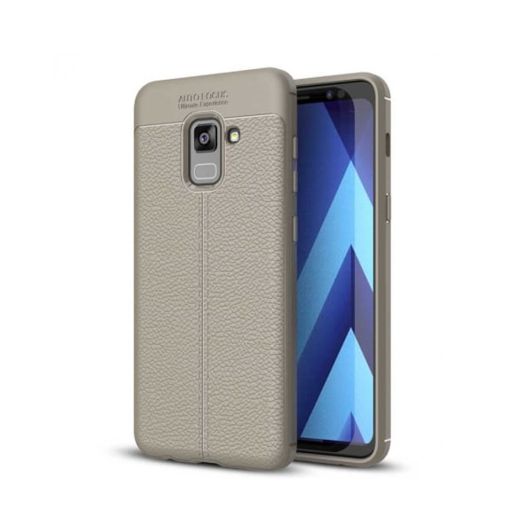 Galaxy A5 2018 Mobilskal - Litchi Anti slip - Grå