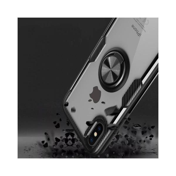 iPhone XS Max Armor skal med magnetisk rotationsring - Röd