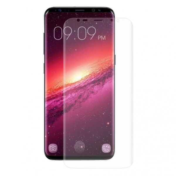 2ST Samsung S8 Heltäckande Skärmskydd l PLAST l SOFT transparent