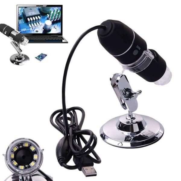 500X förstoring 8-LED USB digital mikroskop inspektion svart