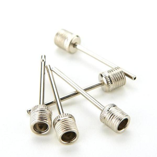 5st Nippel Nål till Bollpump för att pumpa silver 38.5mm