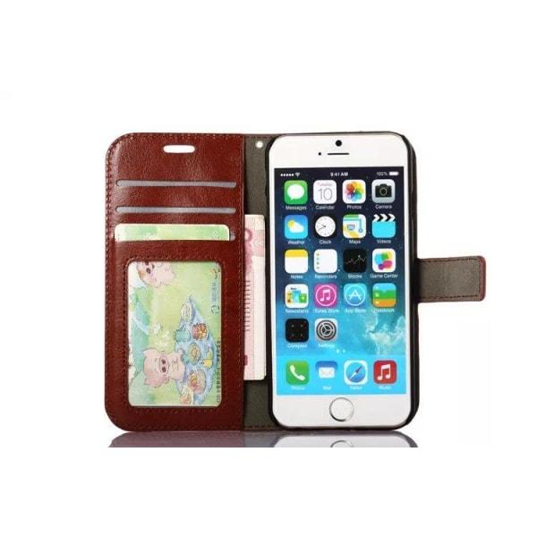 iPhone 7 Plånboksfodral l BRUN l KREDITKORT l ID l  brun