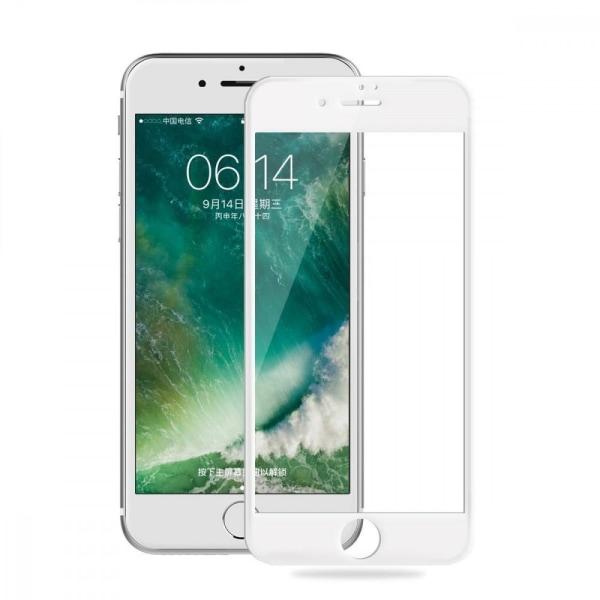 iPhone 8 Plus Full cover Heltäckande Härdat Glas Vit vit