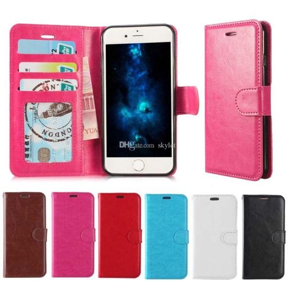 iPhone 7 Plånboksfodral l ROSA l Läderfodral l Kreditkort rosa