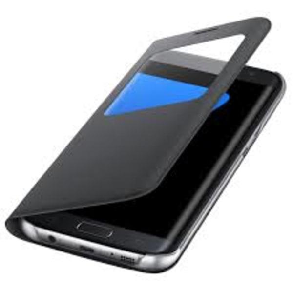 Samsung S7 Flip View läderfodral i Svart svart