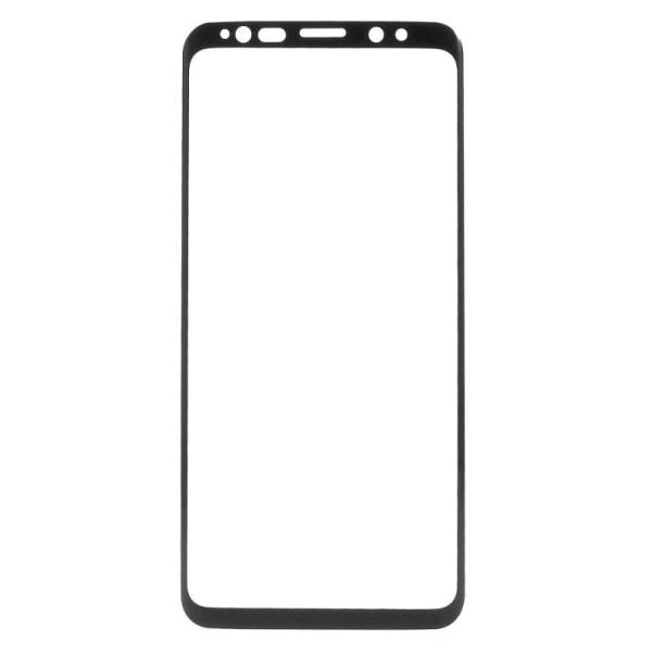 Samsung S8 Heltäckande Skärmskydd l SOFT l PLAST l SVART svart