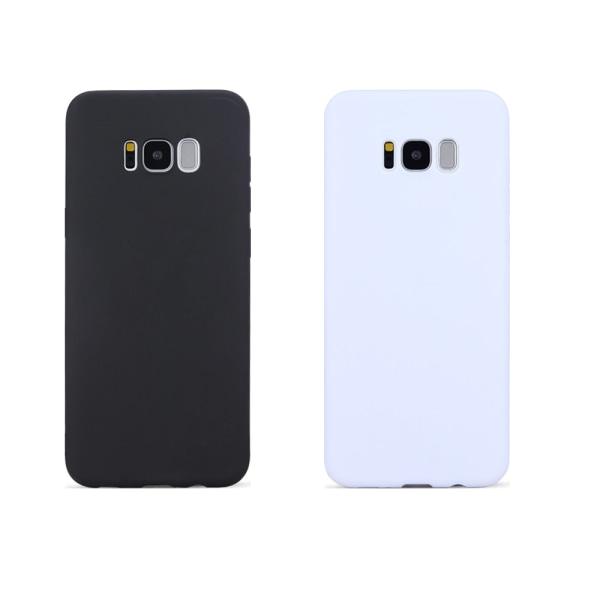 2-PACK - Galaxy S8 Plus Skal Svart & Vitt skal