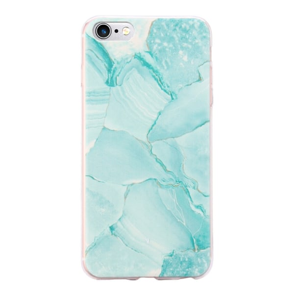 iPhone 6/6S Plus - Skal Blue 4. Green marble