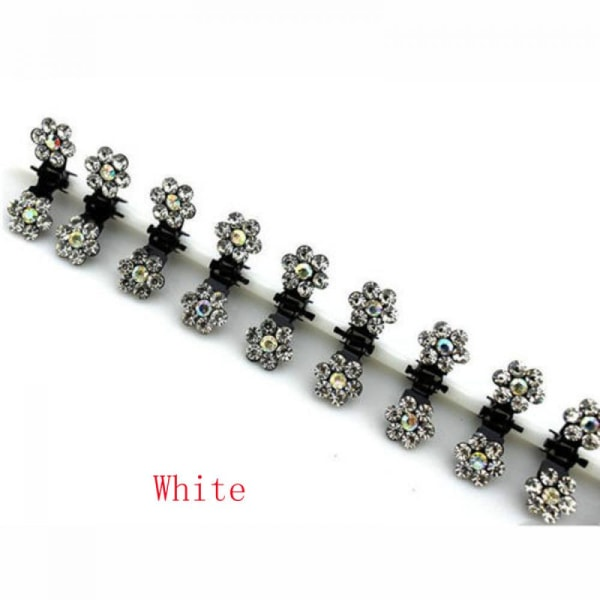 12 Pcs Hair Pin Clip Claw Clamp WHITE white