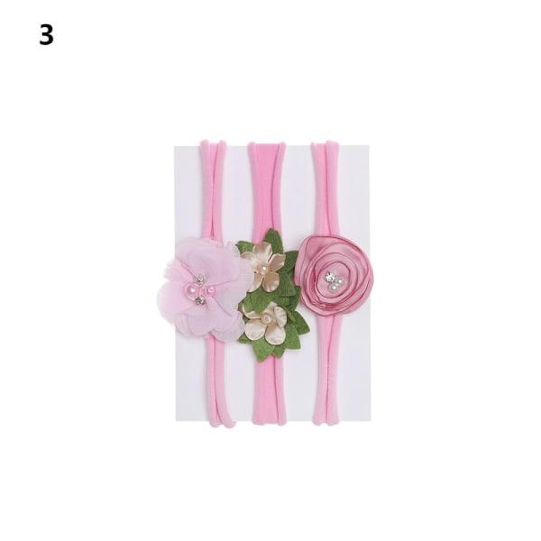 3PCS Baby Headband Nylon Hairband Hair Accessories 3 3