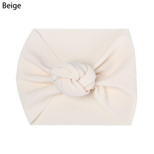 Baby Headband Knoted Headwear Head Wraps BEIGE beige