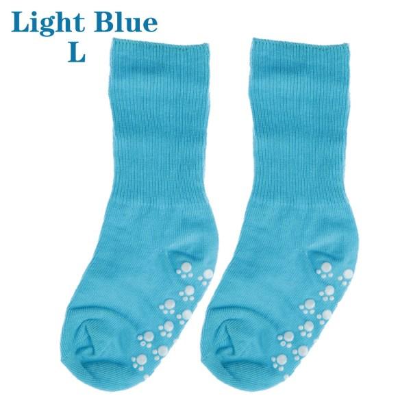 Baby Socks Anti Slip  Candy Color LIGHT BLUE L light blue L