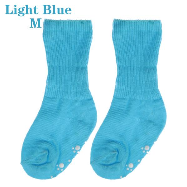 Baby Socks Anti Slip  Candy Color LIGHT BLUE M light blue M