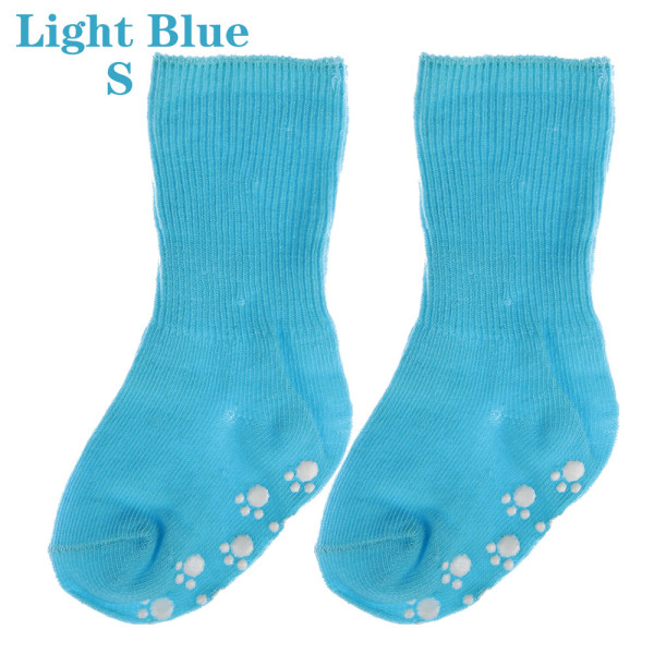 Baby Socks Anti Slip  Candy Color LIGHT BLUE S light blue S