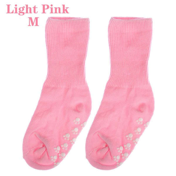 Baby Socks Anti Slip  Candy Color LIGHT PINK M light pink M