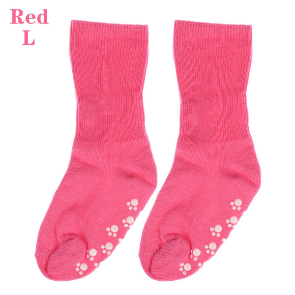 Baby Socks Anti Slip  Candy Color RED L red L