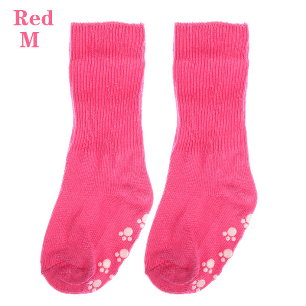 Baby Socks Anti Slip  Candy Color RED M red M