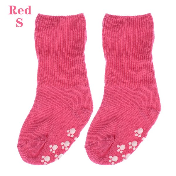 Baby Socks Anti Slip  Candy Color RED S red S