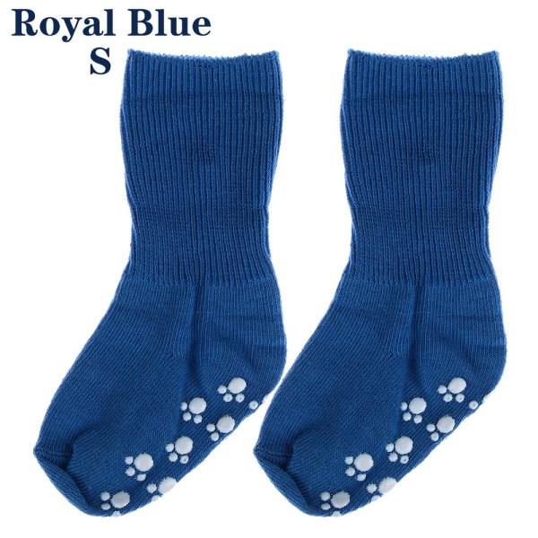 Baby Socks Anti Slip  Candy Color ROYAL BLUE S royal blue S