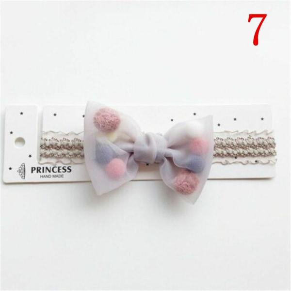 Bowknot Crown Headband Lace Hair Band Infant Headwear 7 7
