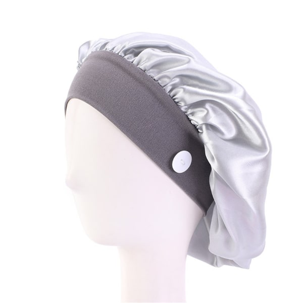 Doctor Hat Nurse Cap With Button SILVER silver