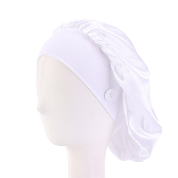 Doctor Hat Nurse Cap With Button WHITE white
