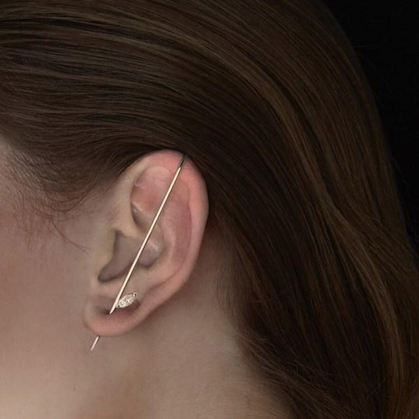 Ear Wrap Crawler Hook Örhängen Nålar runt Auricle Clip
