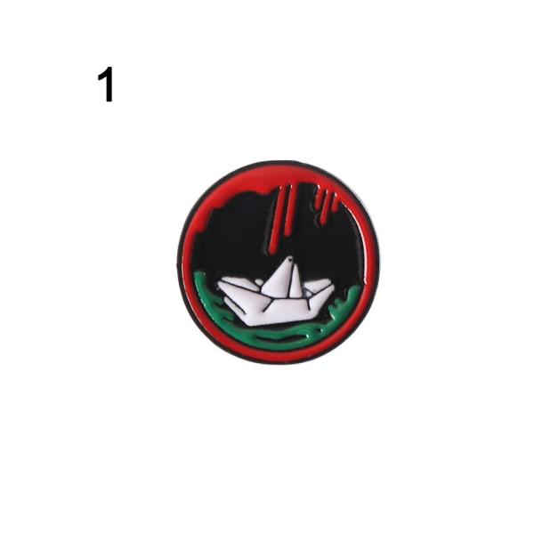 Emaljbroscher Tecknade märken Omslagstift 1