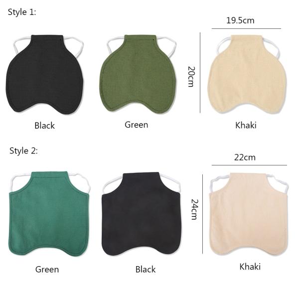 Hönaförkläde Fjäderskyddshållare STIL 2 - KHAKI