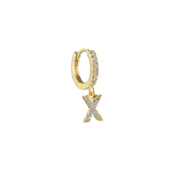 Ursprungliga hänge örhängen 26 alfabetet bokstäver dingla Drop GOLD X