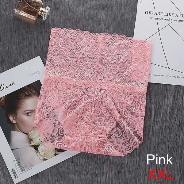 Lace Panties Underwear PINK XXL pink XXL