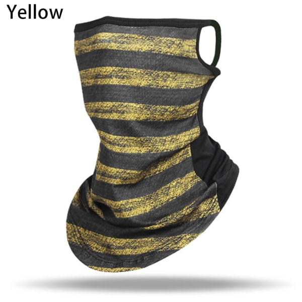 Neck Cover Scarf Wrap Face Covering YELLOW yellow