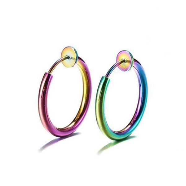 Infällbara örhängen Manschettörhängen Ör manschett med rund ring