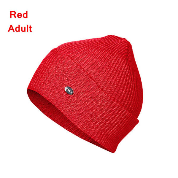 Warm Hat Beanie Cap Skullies RED ADULT red Adult