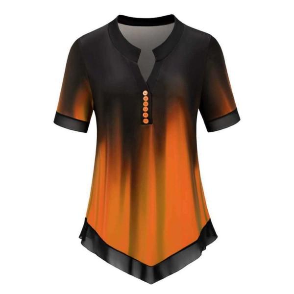 Kvinnors T-shirt Kortärmad ORANGE 4XL = UK STORLEK 20 4XL = UK STORLEK 20 orange 4XL=UK size 20-4XL=UK size 20