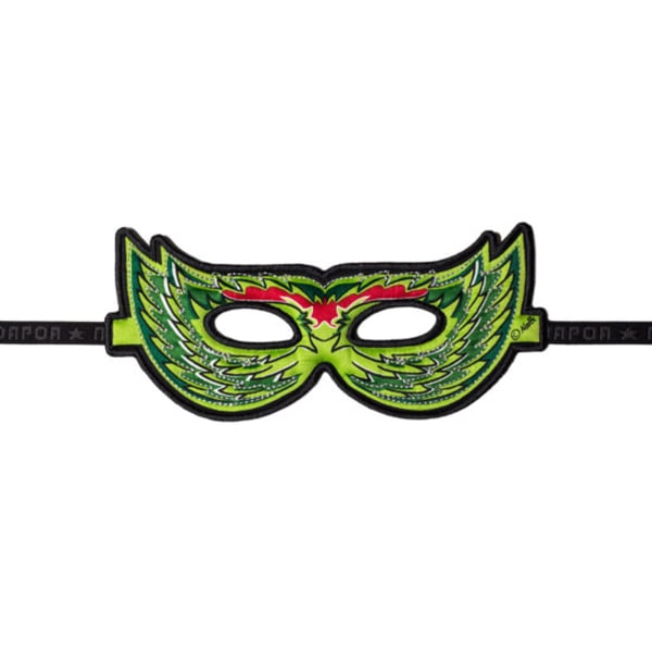 Ansiktsmask - grön fågel Grön