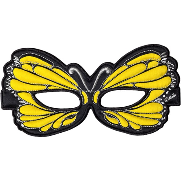 Ansiktsmask - gul fjäril Gul