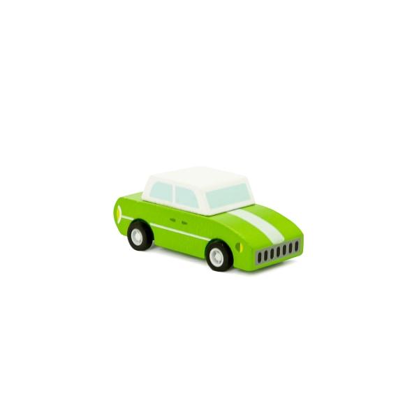 Pull back vintagebil i trä - grön Grön