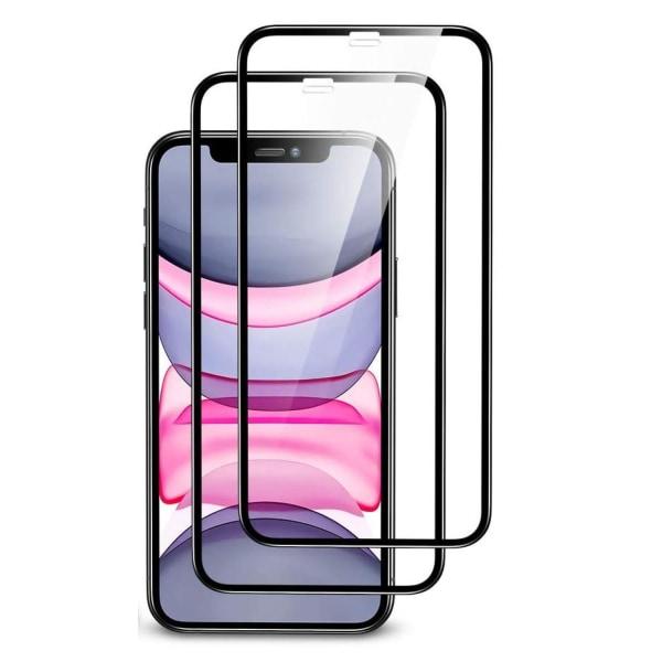 2-pack Heltäckande Skärmskydd - iPhone 11 stötsäkert  Black iPhone 11 / iPhone XR