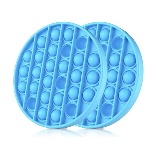 2-Pack Pop It - Fidget Toy - Flera Färger - Blå Blue 2pack - Blå